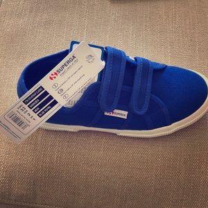 Kids royal blue superga shoes
